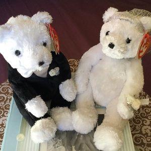 TY Beanie Babies Bride and Groom